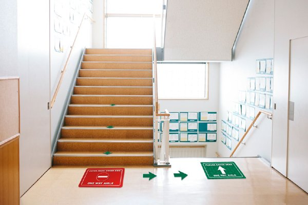 Covid Safety Floor Graphics for Schools